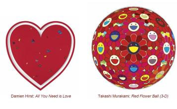 futurethink auction (red) damien hirst takashi murakami