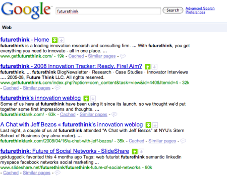 futurethink google search wiki